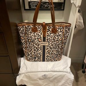 LEOPARD & Leather Barrington Gifts Nantucket Tote